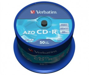 Диски Verbatim CD-R 700Mb 52x Cake 50 Cryst (43343) 3