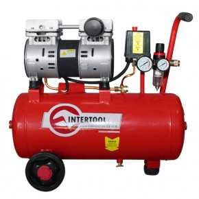 Компрессор Intertool PT-0022 24л, 1.5HP, 1.1кВт, 220В, 8атм, 145л/мин.