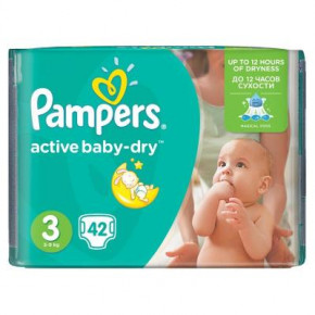 Подгузник Pampers Active Baby-Dry Midi 5-9 кг 42шт (4015400537427)