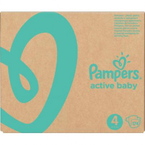 Подгузник Pampers Active Baby Maxi Размер 4 (9-14 кг), 174 шт. (8001090910820)