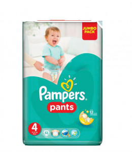 Подгузник Pampers Pants Maxi 9-14 кг Джамбо 52 шт 4015400672869 (U0158611)