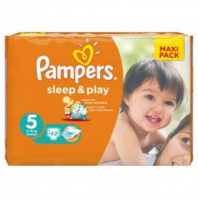 Подгузники Pampers Sleep & Play Junior 5 (11-18 кг) 42 шт.