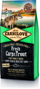 Корм для собак Carnilove Fresh Carp & Trout Shiny Hair & Healthy Skin 12 кг (170872/7557)
