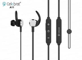 Наушники Celebrat Bluetooth A11 Black