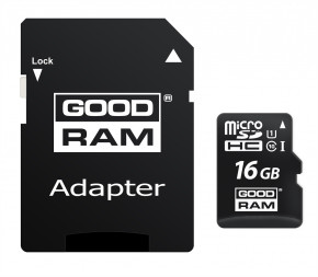 Карта памяти Goodram 16GB UHS-I Class 10 + SD-adapter (M1AA-0160R12)