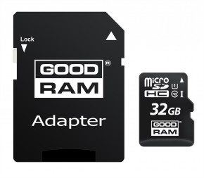 Карта памяти Goodram 32GB UHS-I Class 10  + SD-adapter (M1AA-0320R12)