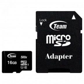 Карта памяти Team 16 GB microSDHC UHS-I + SD Adapter TUSDH16GCL10U03