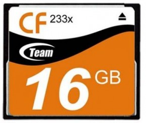 Карта памяти Team Compact Flash 16GB (233x) (TCF16G23301)