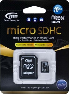 Карта памяти Team microSDHC 16GB Class 10 (adapter SD) (TUSDH16GCL1003) 3