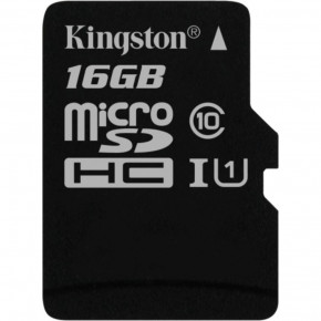 Карта памяти Kingston 16 GB microSDHC Class 10 UHS-I Canvas Select (SDCS/16GBSP)