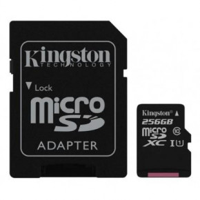 Карта памяти Kingston 256GB microSDXC class 10 UHS-I Canvas Select (SDCS/256GB)