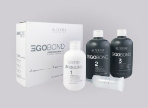 Комплект Alter Ego Egobond 1 Bond Booster 250 мл vs. 2 Bond Setter 500 мл vs. 3 Bond Locker 500 мл vs. дозатор 5