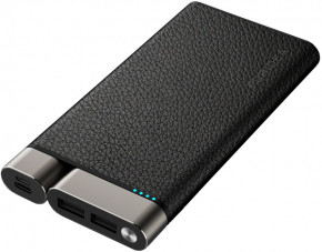 Внешний аккумулятор Puridea X01 10000mAh Li-Pol +TYPE-C Leather Black 2