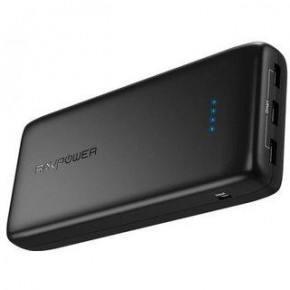 Внешний аккумулятор RavPower Power Bank 32000mAh Fast Charger Black (RP-PB064BK)