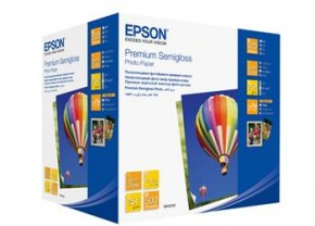 Бумага Epson 100mm x150mm Premium Semiglossy Photo Paper, 500л. (C13S042200)