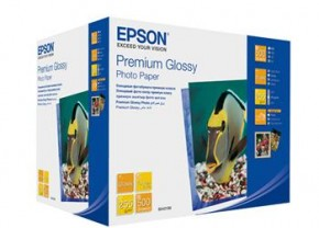 Бумага Epson 130mm x180mm Premium Glossy Photo Paper, 500л. (C13S042199)