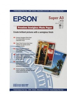 Бумага Epson A3+ Premium Semigloss Photo Paper, 20 л. (C13S041328)