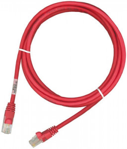 Кроссовый шнур Molex PC RJ45 568B UTP stranded PC 5e LS0H 3m Red (PCD-01005-0C)