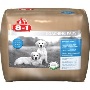Пеленки для собак 8 in 1 Coaching Pads 60х60 см 30 шт.