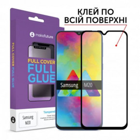 Защитное стекло MakeFuture для Samsung Galaxy M20 SM-M205 Full Glue 0.33 mm Black (MGF-SM205)
