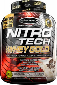 Протеин Muscle Tech Nitro-Tech Whey Gold 2510 г Печенье (4384300938)