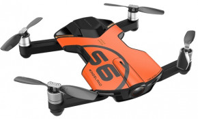Квадрокоптер Wingsland S6 GPS 4K Pocket Drone-2 Batteries pack Orange