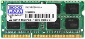 Память Goodram SO-DIMM DDR3 4GB 1333MHz (GR1333S364L9S/4G)