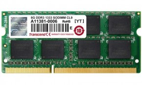 Модуль памяти Goodram SO-DIMM DDR3 8GB PC3-10600 1333Mhz (GR1333S364L9/8G)
