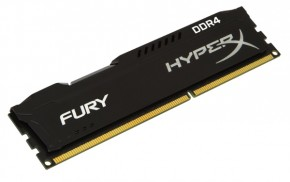 Модуль памяти Kingston HyperX OC DDR4 4Gb 2400Mhz CL15 Fury Black (HX424C15FB/4)