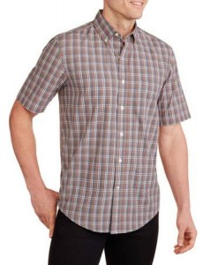 Фото Рубашка мужская George Plaid Woven XL (54UA) Grey/Arctic White