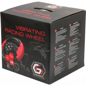 Руль Gembird Vibrating Racing Wheel PC/PS3 (STR-UV-01) USB
