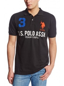 Фото Поло мужское U.S. Polo Assn Team Pique L Black