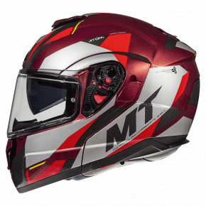 Мотошлем MT Helmets Atom SV Transcend Gloss Red M