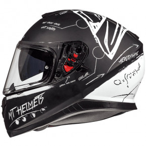 Мотошлем MT Helmets Thunder 3 SV BOARD MATT BLACK/WHITE 3XL