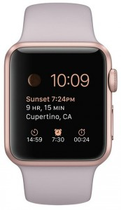 Смарт-часы Apple Watch Sport 38mm Rose Gold Aluminum Case with Lavender Sport Band (MLCH2) 3