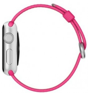 Смарт-часы Apple Watch Sport 38mm Silver Aluminum Case with Pink Woven Nylon (MMF32) 3