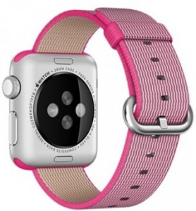 Смарт-часы Apple Watch Sport 38mm Silver Aluminum Case with Pink Woven Nylon (MMF32) 4