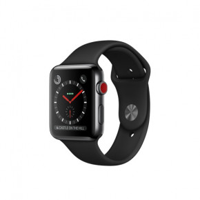 Смарт-часы Apple Watch Series 3 GPS + Cellular 42mm Space Black (MQK92)