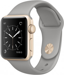 Смарт-часы Apple Watch Series 2 38mm Gold Aluminum Case Sand Sport Band (MNNY2)