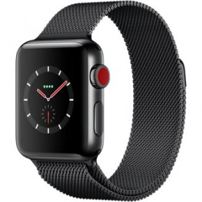 Смарт-часы Apple Watch Series 3 GPS + Cellular 38mm Space Black Stainless Steel w. Space Black Milanese L. (MR1H2)