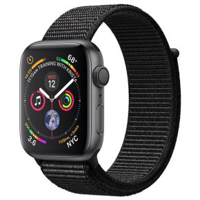 Смарт-часы Apple Watch Series 4 GPS 40mm Gray Alum. w. Black Sport l. Gray Alum. (MU672)