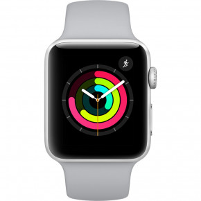 Смарт-часы Apple Watch Series 3 GPS 42mm Silver Aluminum Fog Sport Band (MQL02) 3