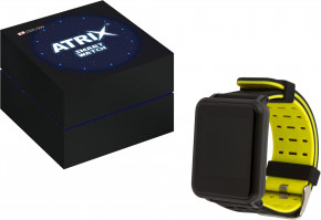 Фитнес браслет Atrix Pro Sport A950 IPS Pulse and AD Black-Yellow 8