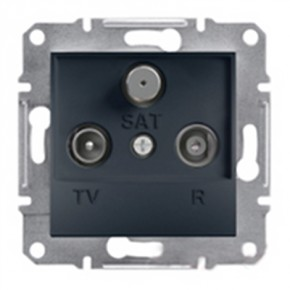 7aa5f9e68c9f Розетка TV-R-SAT конечная Schneider Electric Asfora Антрацит (EPH3500171)