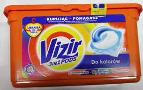 Капсулы для стирки Vizir 3 in 1 pods do Kolorow 38 шт