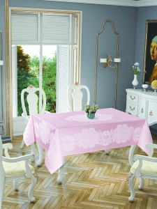 Скатерть Tabe Tropik Home Royal Pink 5699-4 150x220