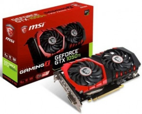 Видеокарта MSI GeForce GTX 1050Ti GAMING X 4G 6