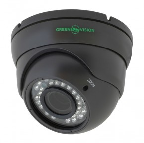 Купольная Камера IP GreenVision GV-002-IP-E-DOS24V-30 Gray
