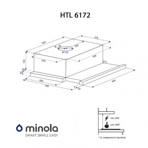 Вытяжка Minola HTL 6172 I/BL Glass 650 LED 7